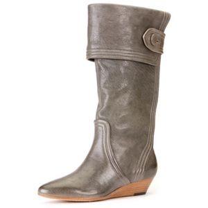 Frye gray sam button cognac boots size 6